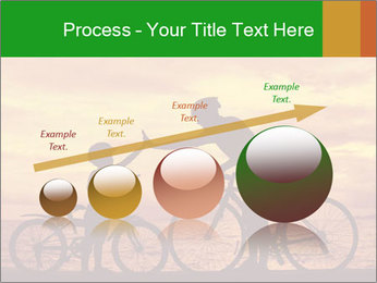Biker family silhouette PowerPoint Templates - Slide 87