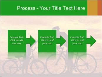 Biker family silhouette PowerPoint Templates - Slide 88