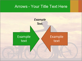 Biker family silhouette PowerPoint Templates - Slide 90