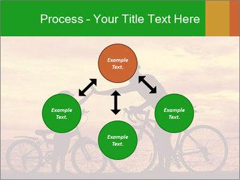 Biker family silhouette PowerPoint Templates - Slide 91