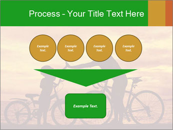 Biker family silhouette PowerPoint Templates - Slide 93