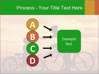 Biker family silhouette PowerPoint Templates - Slide 94