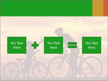 Biker family silhouette PowerPoint Templates - Slide 95