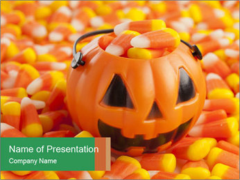 Halloween Candy Corn PowerPoint Template - Slide 1
