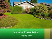 Designed front yard lawn PowerPoint Template