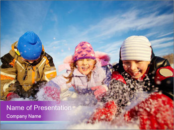 Joyful kids PowerPoint Template