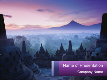 Borobudur Temple PowerPoint Template