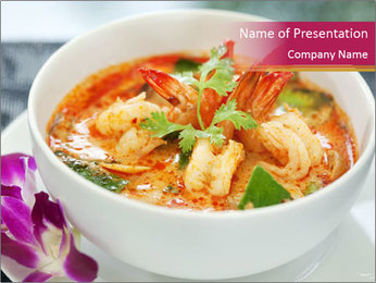 Tom Yam Kung PowerPoint Template - Slide 1
