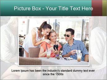 Women drinking coffee PowerPoint Templates - Slide 16