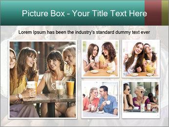 Women drinking coffee PowerPoint Template - Slide 19