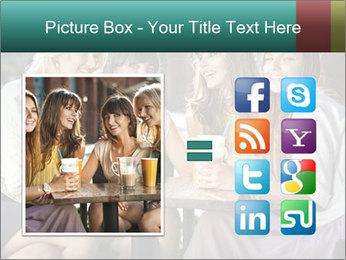 Women drinking coffee PowerPoint Template - Slide 21