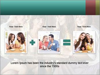 Women drinking coffee PowerPoint Template - Slide 22