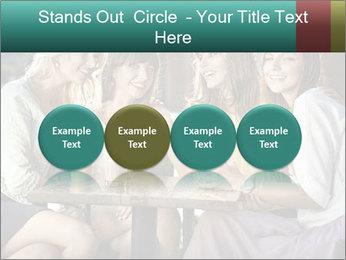 Women drinking coffee PowerPoint Template - Slide 76