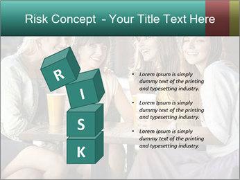 Women drinking coffee PowerPoint Template - Slide 81