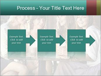 Women drinking coffee PowerPoint Template - Slide 88