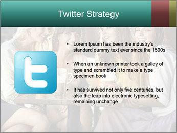Women drinking coffee PowerPoint Template - Slide 9