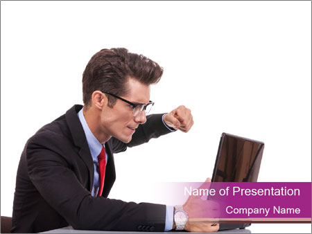 Angry business man PowerPoint Templates