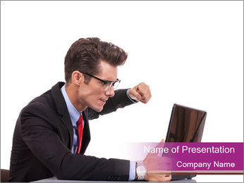 Angry business man PowerPoint Template