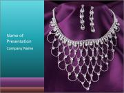 Fashion necklace PowerPoint Templates