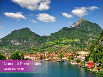 Italian lake PowerPoint Template - Slide 1