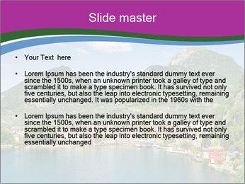 Italian lake PowerPoint Template - Slide 2