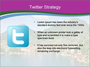 Italian lake PowerPoint Template - Slide 9