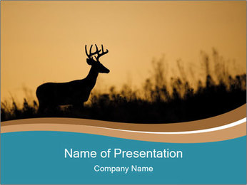 Stag silhouette PowerPoint Template