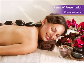 Spa Stone PowerPoint Template - Slide 1