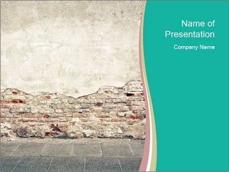 Ыtreet wall PowerPoint Templates