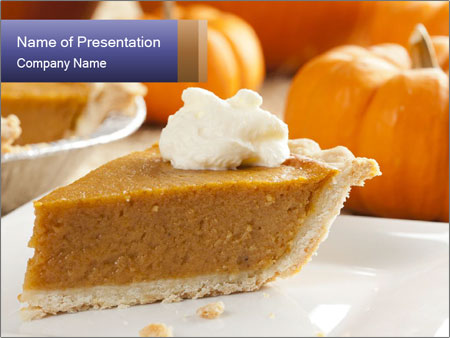 Fresh Homemade Pumpkin Pie PowerPoint Templates