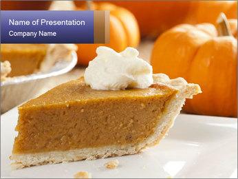 Fresh Homemade Pumpkin Pie PowerPoint Template
