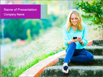 Happy smiling girl PowerPoint Template