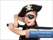Pirate girl PowerPoint Templates