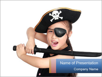 Pirate girl PowerPoint Template