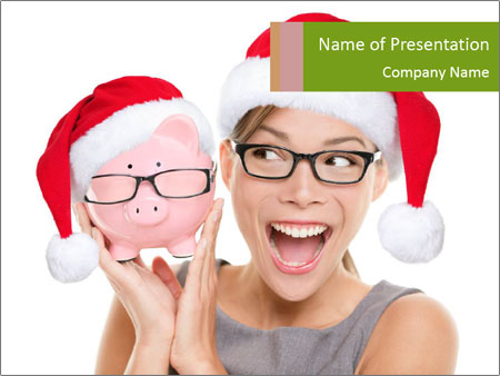 Christmas glasses PowerPoint Templates