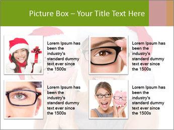 Christmas glasses PowerPoint Templates - Slide 14