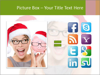 Christmas glasses PowerPoint Templates - Slide 21