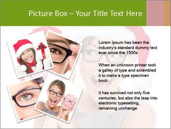 Christmas glasses PowerPoint Templates - Slide 23