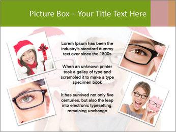 Christmas glasses PowerPoint Templates - Slide 24
