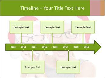 Christmas glasses PowerPoint Templates - Slide 28