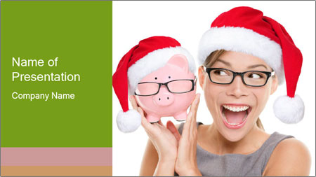 Christmas glasses PowerPoint Template