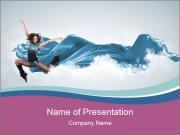 Young woman dancer PowerPoint Templates