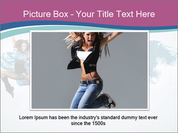 Young woman dancer PowerPoint Templates - Slide 15