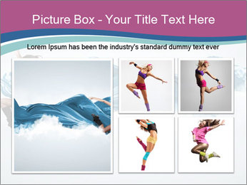 Young woman dancer PowerPoint Templates - Slide 19