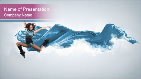 Young woman dancer PowerPoint Template