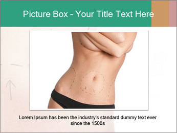 Woman belly marked PowerPoint Templates - Slide 15