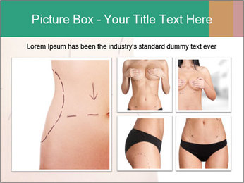 Woman belly marked PowerPoint Templates - Slide 19