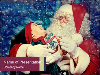 Santa Claus PowerPoint Template - Slide 1
