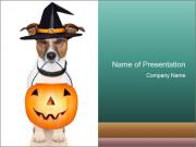 Halloween trick PowerPoint Templates