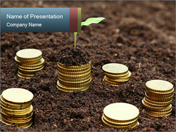 Money growth concept. PowerPoint Template